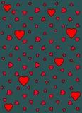 Modelo del vector del corazón Imágenes de archivo libres de regalías