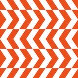 Modelo del vector del zigzag Líneas intermitentes rojas y blancas Ejemplo simple y de moda ilustración del vector