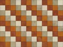 Modelo del vintage con la naranja marrón blanca del coloroff silenciado stock de ilustración
