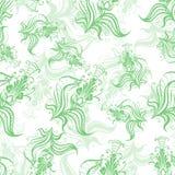 Modelo del vintage de las flores verdes de la primavera ilustración del vector