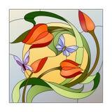 Modelo del vitral Foto de archivo libre de regalías