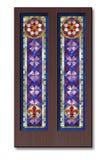 Modelo del vitral, ornamento gótico Fotografía de archivo libre de regalías