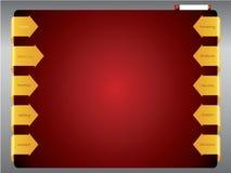 Modelo del Web de la flecha de la cinta Imágenes de archivo libres de regalías