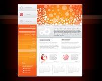 Modelo del Web site Fotografía de archivo