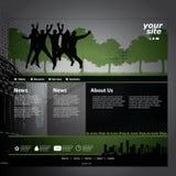 Modelo del Web site Fotos de archivo