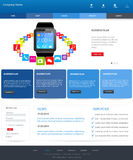 Modelo del Web site stock de ilustración