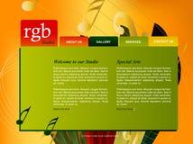 Modelo del Web site Imagen de archivo libre de regalías