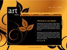 Modelo del Web site Imágenes de archivo libres de regalías