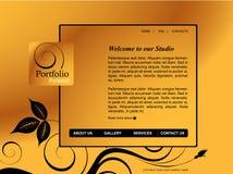 Modelo del Web site Fotografía de archivo libre de regalías