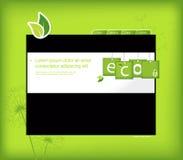 Modelo del Web site con el fondo verde. libre illustration