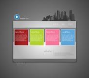Modelo del Web site con la ciudad. Imágenes de archivo libres de regalías