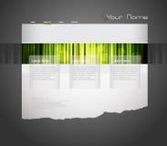 Modelo del Web site con la cortina verde. Imagenes de archivo