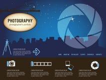 Modelo del Web site de la fotografía Foto de archivo libre de regalías