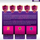 Modelo del Web site de la seguridad Fotos de archivo