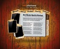 Modelo del Web site del estilo de la vendimia del libro de la foto Imagen de archivo libre de regalías