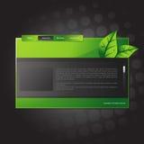 Modelo del Web site del vector Fotografía de archivo