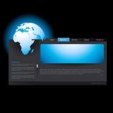 Modelo del Web site del vector Imagen de archivo libre de regalías
