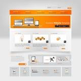 Modelo del Web site Ilustración del vector Imágenes de archivo libres de regalías