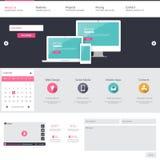 Modelo del Web site Ilustración del vector Fotografía de archivo