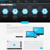 Modelo del Web site Ilustración del vector Fotografía de archivo libre de regalías
