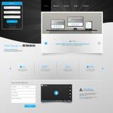 Modelo del Web site Ilustración del vector Fotos de archivo libres de regalías