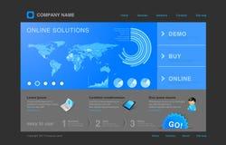 Modelo del Web site: Infographics stock de ilustración