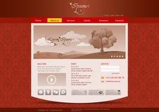 Modelo del Web site para el hotel, restaurante, beuty stock de ilustración