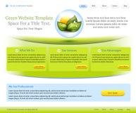 Modelo del Web site para la compañía del cuidado médico Foto de archivo