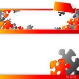 Modelo del Web site - rompecabezas Fotos de archivo