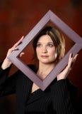 Modelo dentro del marco Foto de archivo