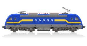 Modelo detalhado da locomotiva elétrica Fotos de Stock