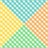 Modelo diagonal inconsútil de la guinga en cuatro colores Foto de archivo libre de regalías