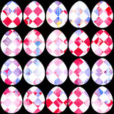 Modelo dibujado mano de la acuarela con los huevos de Pascua Imágenes de archivo libres de regalías