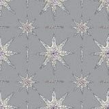 Modelo dibujado mano de los cristales El extracto stars el fondo inconsútil Vector la textura para el papel pintado, papel de emb stock de ilustración