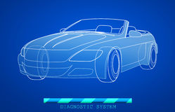 Modelo dibujado mano del coche Imagen de archivo