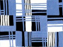 Modelo dibujado mano geométrica inconsútil Rectángulos coloreados y rayas Diseño para la tela, papel pintado, carteles fotografía de archivo