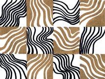 Modelo dibujado mano geométrica inconsútil Rectángulos coloreados y rayas Diseño para la tela, papel pintado, carteles imagen de archivo libre de regalías