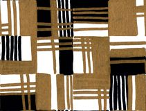 Modelo dibujado mano geométrica inconsútil Rectángulos coloreados y rayas Diseño para la tela, papel pintado, carteles imagen de archivo