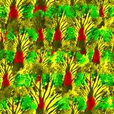 Modelo dibujado mano inconsútil de la acuarela Diseño brillante para el papel pintado, teja, materia textil, tela, embalaje, empa Foto de archivo libre de regalías