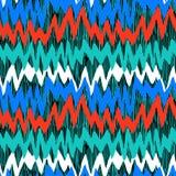 Modelo dibujado mano rayada con las líneas del zigzag Imagen de archivo