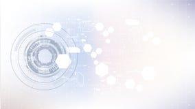 Modelo digital abstracto tecnológico del circuito del elemento moderno Imagen de archivo