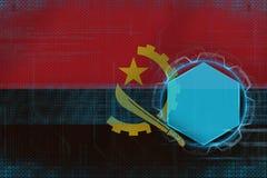 Modelo digital de Angola Conceito eletrônico do quadro ilustração do vetor