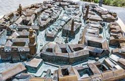 Modelo diminuto da cidade de Sopron em Hungria fotografia de stock royalty free