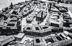 Modelo diminuto da cidade de Sopron em Hungria imagens de stock royalty free