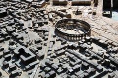 Modelo diminuto da cidade dos Pula, Croatia fotografia de stock