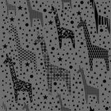 Modelo divertido de las jirafas Fotografía de archivo libre de regalías