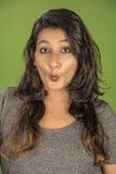 Modelo divertido del indio de la cara Fotografía de archivo libre de regalías