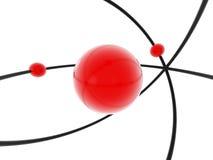 Modelo do átomo ilustração stock