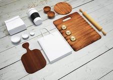 Modelo do alimento e da cozinha 3d Imagem de Stock Royalty Free