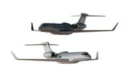 Modelo do avião de Gray Matte Luxury Generic Design Private da foto Modelo claro fundo branco vazio isolado Negócios Fotografia de Stock